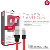 HyperGear MFi Lightning Flexi 6ft. Charge & Sync Cable