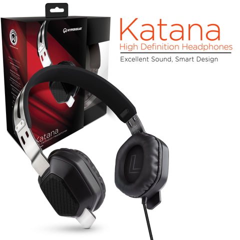 HyperGear Katana Headphones w/Mic 3.5mm Black