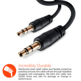 HyperGear 3.5mm Auxiliary/AUX Audio Cable 3ft Black