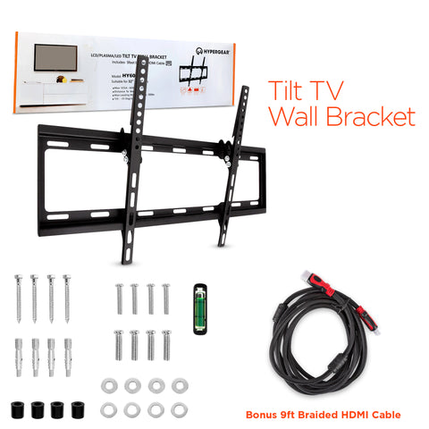 "HyperGear TV Mount 32""-70"" with 9ft HDMI Cable"