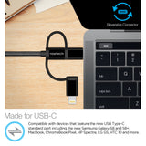 Naztech 3X1 Micro, Lightning & USB-C Charge/Sync 6ft CBL