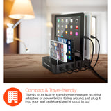 HyperGear Desktop Quad Charger 4 USB 4.4A Black