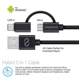 Naztech Safety Essentials Car Kit - Hybrid USB-C - Black