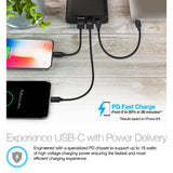 Naztech 18W USB-C PD Super Speed Portable Battery 13400mAh