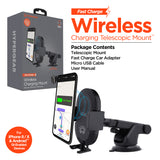 HyperGear Wireless Fast Charging 10W Telescopic Mount