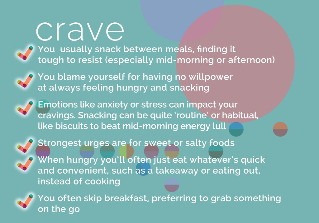 cravings and snacker eating - key features - begu lifestyle teas and plans