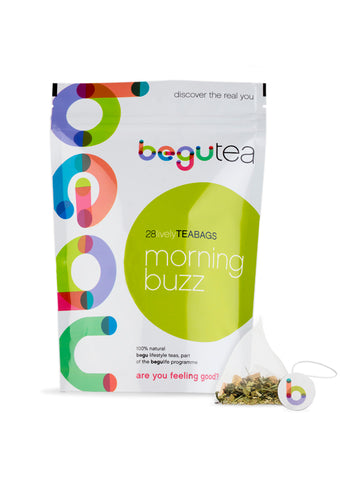 morning buzz tea with teabag