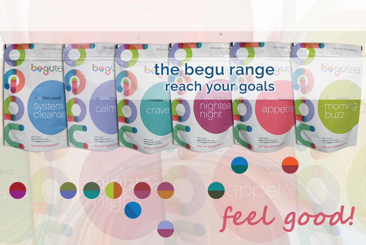 begu healthy tea range