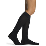 Sigvaris Sea Island Cotton Women's 15-20 mmHg Knee High, Black
