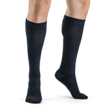 Sigvaris Casual Cotton Men's 15-20mmHg Knee High, Navy