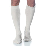 Sigvaris Casual Cotton Men's 15-20mmHg Knee High, White