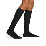 Sigvaris Sea Island Cotton Men's 20-30 mmHg Knee High, Black