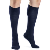 Sigvaris All-Season Merino Wool Men's 15-20 mmHg Knee High, Navy