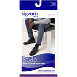 Sigvaris Sea Island Cotton Men's 20-30 mmHg Knee High