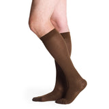 Sigvaris Cotton Men's 30-40 mmHg Knee High, Chocolate