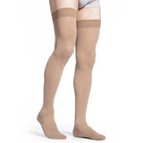 Sigvaris Cotton Men's 30-40 mmHg Thigh High, Light Beige (Crispa)