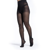 Sigvaris Patterns Women's 15-20 mmHg Pantyhose, Black