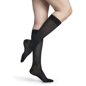 Sigvaris Medium Sheer Women's 20-30 mmHg Knee High, Dark Navy