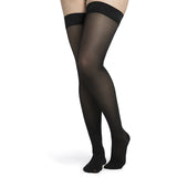 Sigvaris Medium Sheer Women's 20-30 mmHg Thigh High, Black