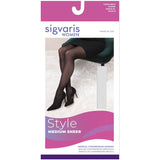 Sigvaris Medium Sheer Women's 20-30 mmHg Thigh High