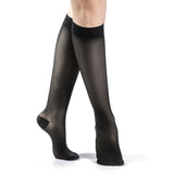 Sigvaris Sheer Women's 15-20 mmHg Knee High, Black