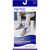 Sigvaris Microfiber Patterns Men's 20-30 mmHg Knee High