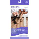 Sigvaris Opaque 30-40 mmHg OPEN TOE Knee High w/ Silicone Band Grip-Top