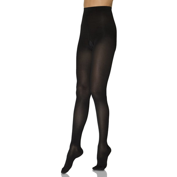 Sigvaris Opaque Women's 20-30 mmHg Plus Sized Pantyhose, Black
