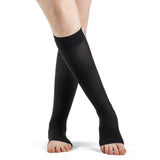 Dynaven 15-20 mmHg OPEN TOE Knee High, Black