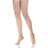 Dynaven Women's 20-30 mmHg Thigh High, Light Beige (Crispa)