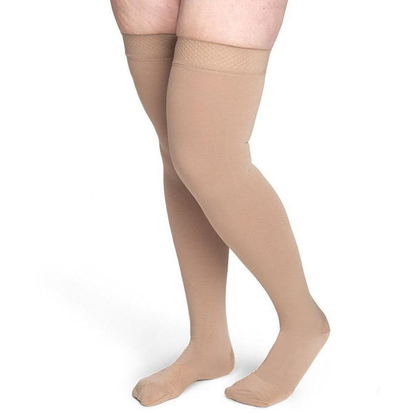 Sigvaris Secure Women's 40-50 mmHg Thigh High, Beige