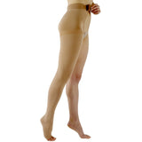 Sigvaris Natural Rubber 40-50 mmHg OPEN TOE Thigh High w/ Waist Attachment, Right Leg