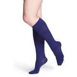 Sigvaris Soft Opaque Women's 15-20 mmHg Knee High, Blue Iris