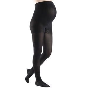 Sigvaris Soft Opaque Women's 15-20 mmHg Maternity Pantyhose, Black