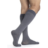 Sigvaris Microfiber Patterns Men's 20-30 mmHg Knee High, Graphite Heather