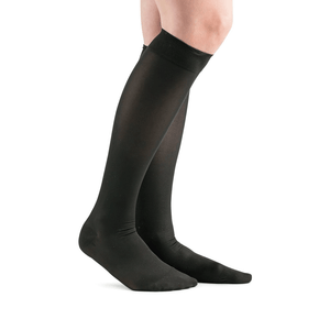 Actifi 20-30 Surgical Opaque Wide Knee High Stockings, Black