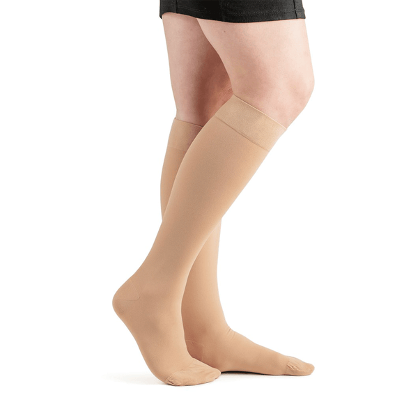 Actifi 20-30 Surgical Opaque Knee High Stockings, Beige