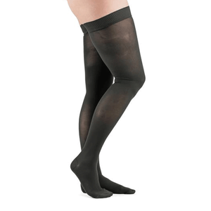 Actifi 20-30 Surgical Opaque Thigh High Stockings, Black