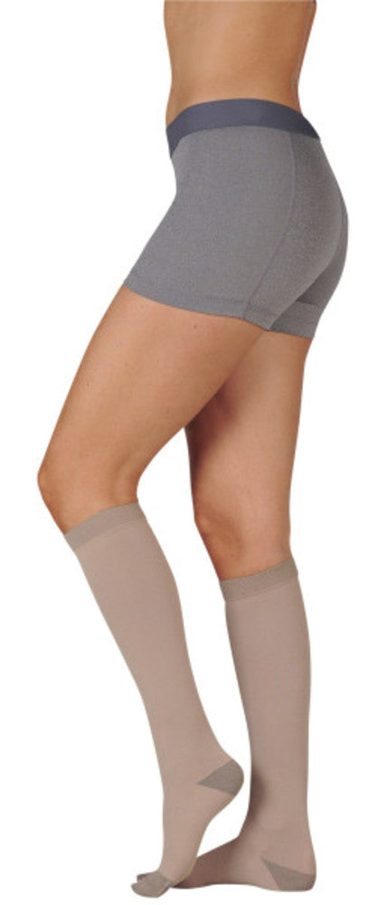 Juzo Soft Silver 30-40 mmHg Knee High w/ Silicone Top Band