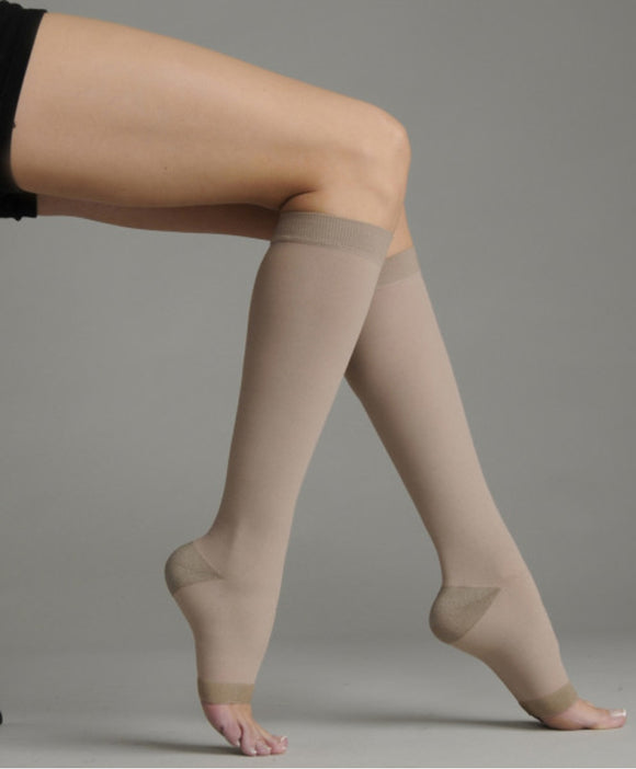 Juzo Soft Silver 30-40 mmHg OPEN TOE Knee High