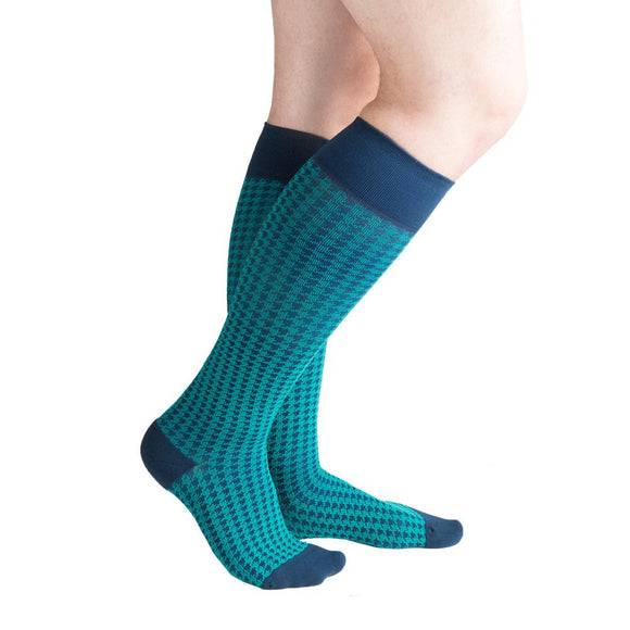 VenaCouture Men's Bold Houndstooth 15-20 mmHg Compression Sock