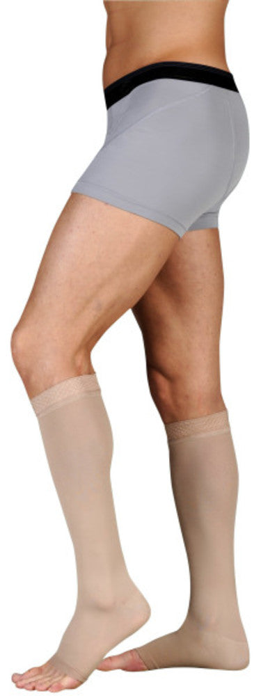 Juzo Dynamic 30-40 mmHg OPEN TOE Knee High w/ 3.5 cm Silicone Top