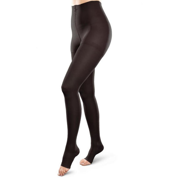 Therafirm Ease Opaque 30-40 mmHg OPEN TOE Waist High