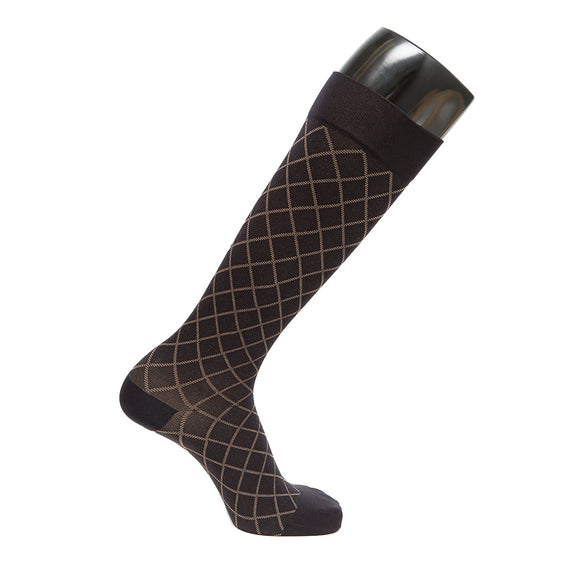 VenaCouture Women's Opaque Designs Diamond 15-20 mmHg Compression Socks