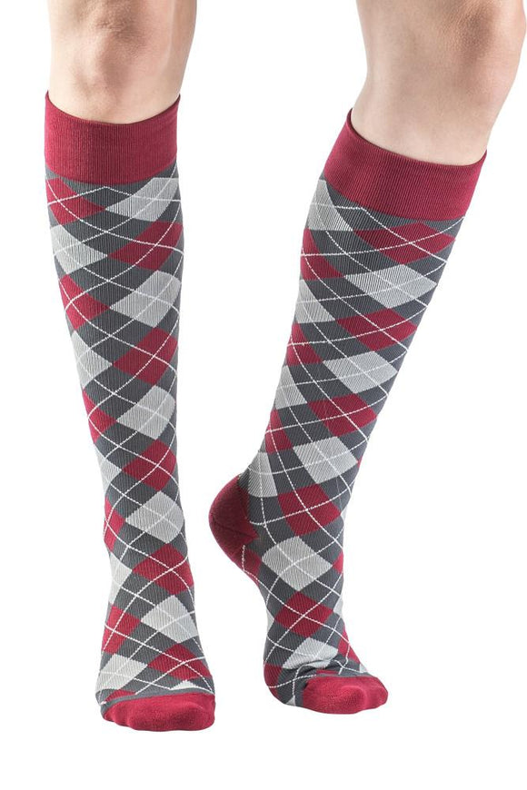 VenaCouture Women's Bold Mini-Argyle 15-20 mmHg Compression Sock