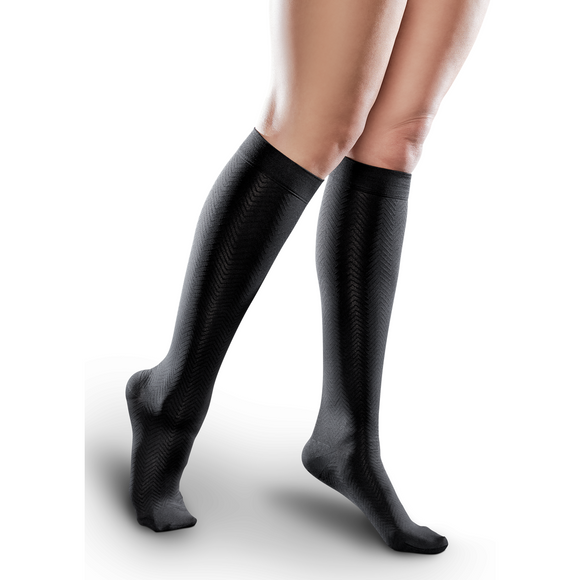 Therafirm Ease Women's Microfiber 15-20 mmHg Patterned Knee High