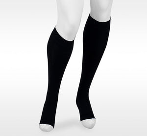 Juzo Assist 20-30 mmHg OPEN TOE Knee High, Black