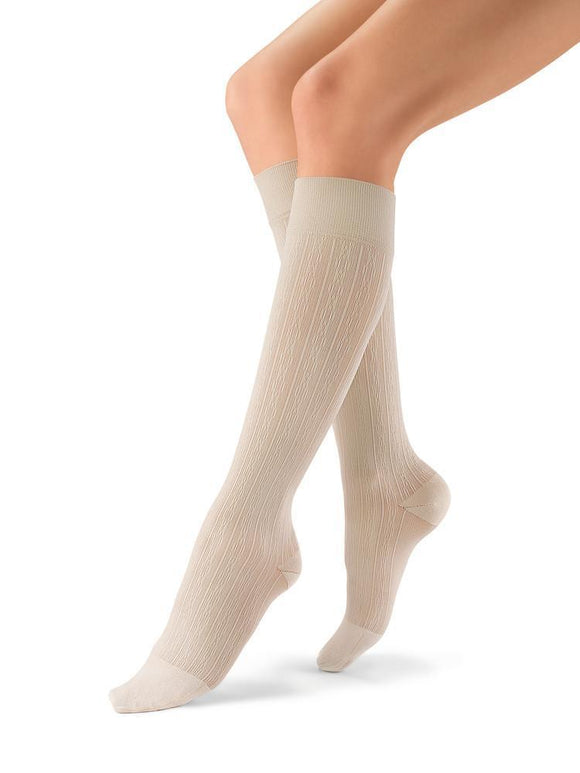 Jobst soSoft Women's 15-20 mmHg Brocade Knee High