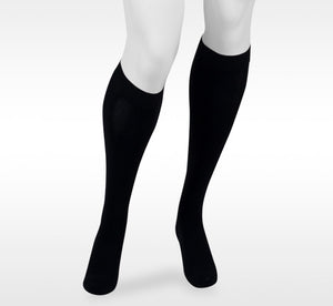 Juzo Assist 30-40 mmHg Knee High w/Silicone Top Band, Black