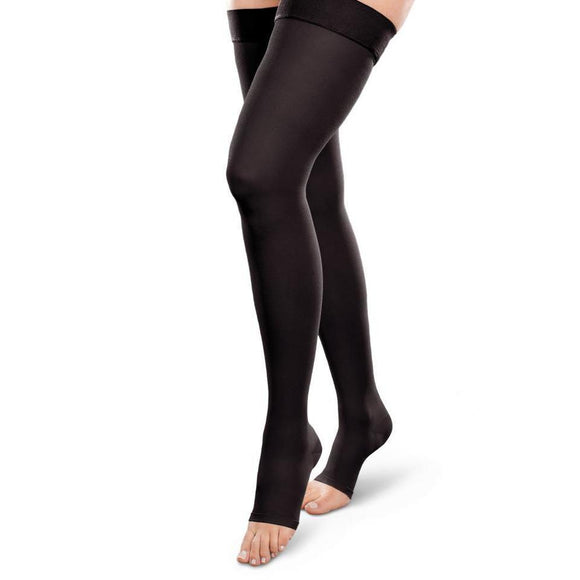 Therafirm Ease Opaque 30-40 mmHg OPEN TOE Thigh High